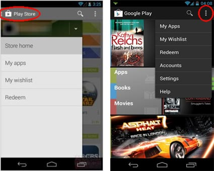 Google Play Card inwisselen