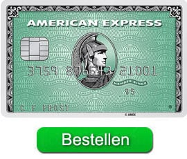 Bestel de Amex charge card green
