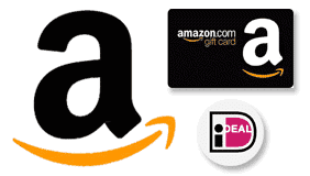 Bestellen bij Amazon met iDEAL of gift card.