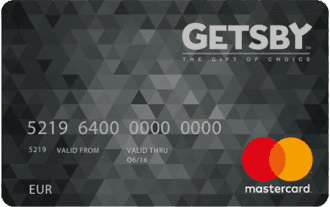 Getsby Mastercard giftcard